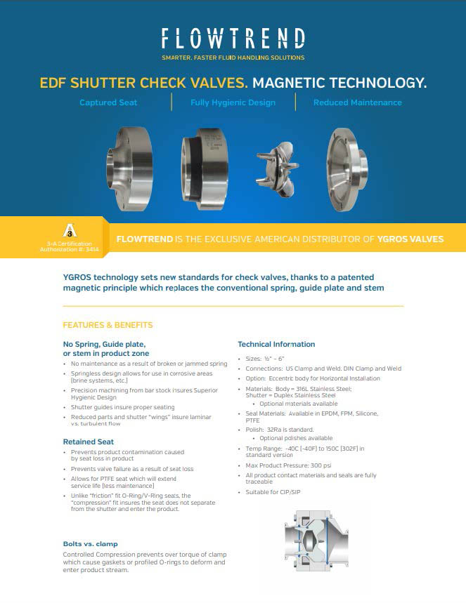 Product Sheets, EDF Magnetic Shutter Valve